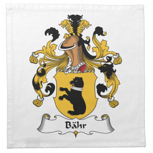 Escudo de la familia de Bahr Servilleta