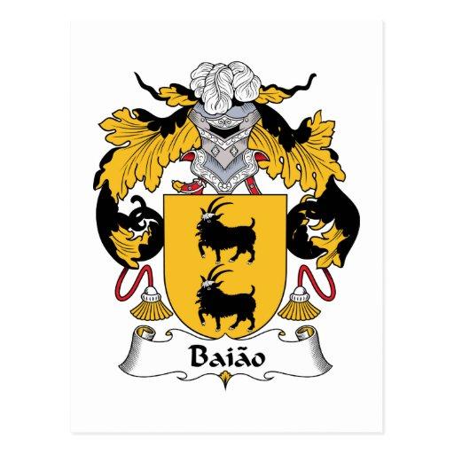 Escudo de la familia de Baiao Postal