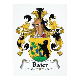 """Escudo de la familia de Baier Invitación 6.5"""" X 8.75"""""""