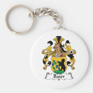 Escudo de la familia de Baier Llavero Redondo Tipo Pin