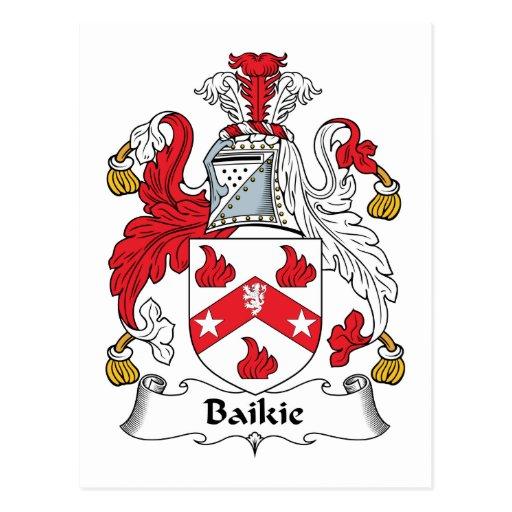 Escudo de la familia de Baikie Tarjetas Postales