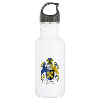 Escudo de la familia de Bailey Botella De Agua De Acero Inoxidable