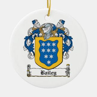 Escudo de la familia de Bailey Ornamento Para Arbol De Navidad