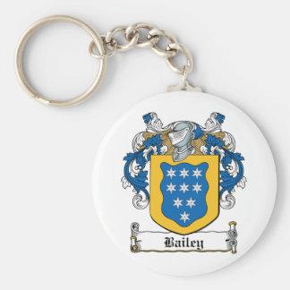 Escudo de la familia de Bailey Llavero Redondo Tipo Pin
