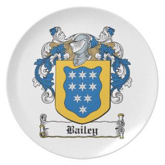 Escudo de la familia de Bailey Platos De Comidas