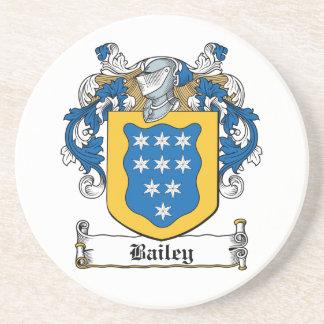 Escudo de la familia de Bailey Posavasos Personalizados