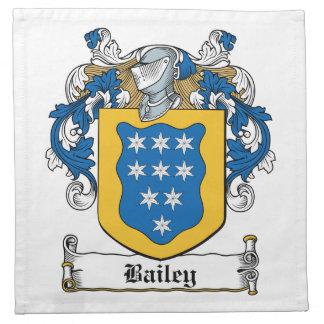 Escudo de la familia de Bailey Servilleta De Papel