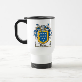 Escudo de la familia de Bailey Tazas De Café