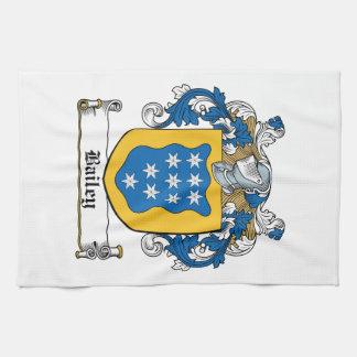 Escudo de la familia de Bailey Toalla De Mano