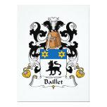 Escudo de la familia de Baillet Invitación 16,5 X 22,2 Cm