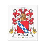 Escudo de la familia de Bailleul Impresión De Lienzo