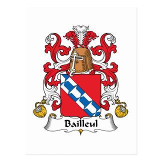 Escudo de la familia de Bailleul Postal