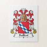 Escudo de la familia de Bailleul Rompecabezas Con Fotos