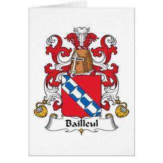 Escudo de la familia de Bailleul Tarjetón