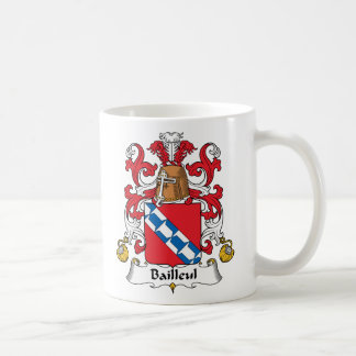 Escudo de la familia de Bailleul Taza De Café