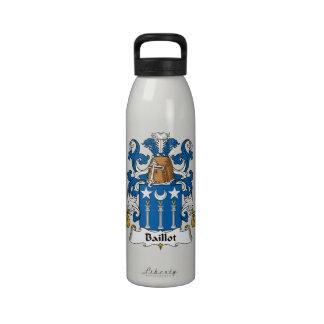 Escudo de la familia de Baillot Botella De Agua