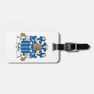 Escudo de la familia de Baillot Etiqueta Para Equipaje