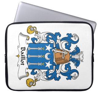 Escudo de la familia de Baillot Funda Computadora