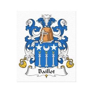 Escudo de la familia de Baillot Impresión En Lona Estirada