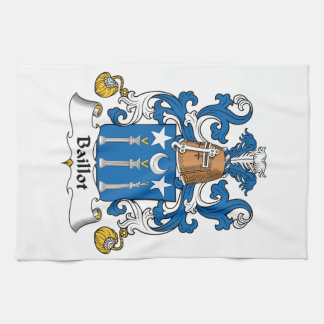 Escudo de la familia de Baillot Toallas De Cocina
