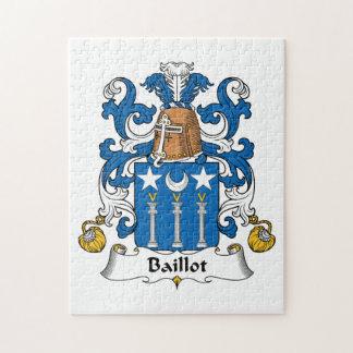 Escudo de la familia de Baillot Puzzle Con Fotos