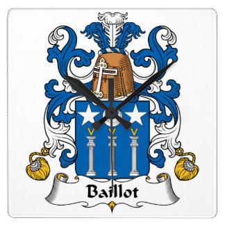 Escudo de la familia de Baillot Relojes