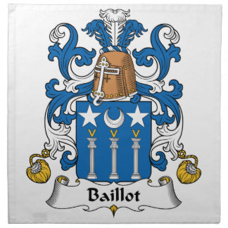 Escudo de la familia de Baillot Servilletas