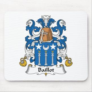 Escudo de la familia de Baillot Tapetes De Ratones
