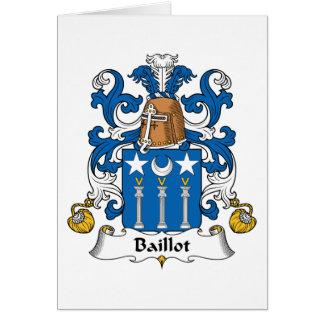 Escudo de la familia de Baillot Felicitacion
