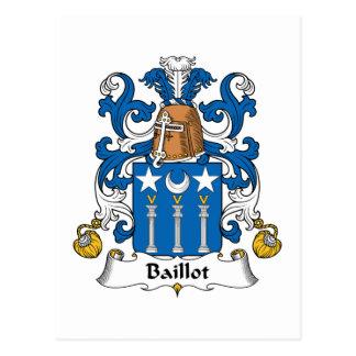 Escudo de la familia de Baillot Postales