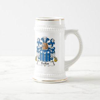 Escudo de la familia de Baillot Taza De Café