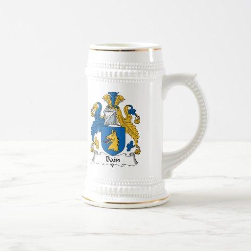Escudo de la familia de Bain Jarra De Cerveza