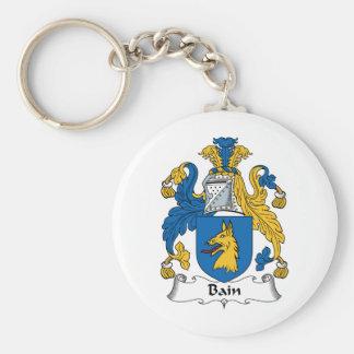 Escudo de la familia de Bain Llavero Redondo Tipo Pin