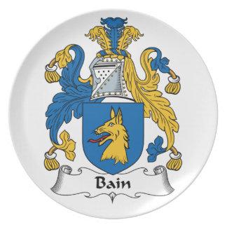 Escudo de la familia de Bain Plato De Cena