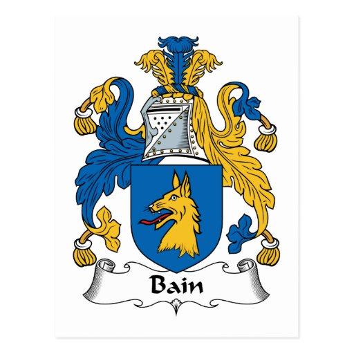 Escudo de la familia de Bain Postales