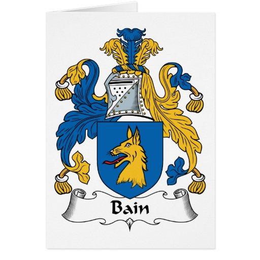Escudo de la familia de Bain Tarjeta De Felicitación