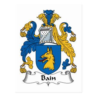 Escudo de la familia de Bain Tarjeta Postal