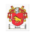 Escudo de la familia de Baird Impresiones De Lienzo