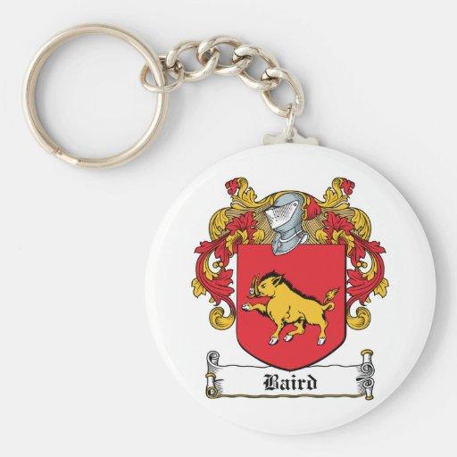 Escudo de la familia de Baird Llavero Redondo Tipo Pin