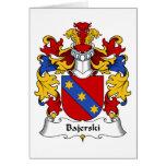 Escudo de la familia de Bajerski Tarjeta