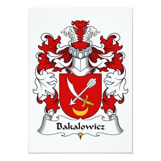 """Escudo de la familia de Bakalowicz Invitación 5"""" X 7"""""""
