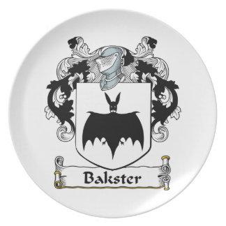 Escudo de la familia de Bakster Platos Para Fiestas