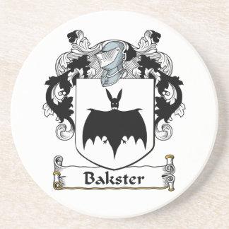 Escudo de la familia de Bakster Posavasos Personalizados