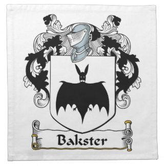 Escudo de la familia de Bakster Servilleta Imprimida