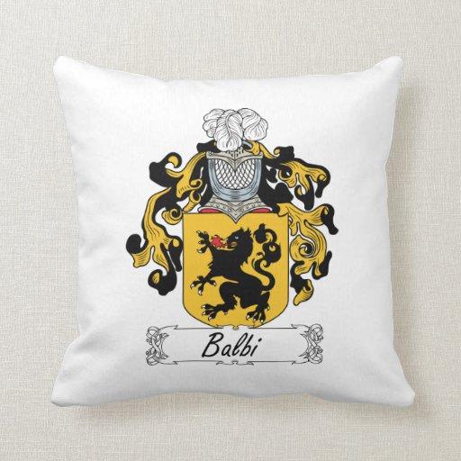 Escudo de la familia de Balbi Almohadas