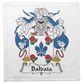 Escudo de la familia de Baldaia Servilleta Imprimida