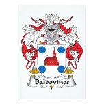 Escudo de la familia de Baldovinos Invitación 12,7 X 17,8 Cm