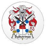 Escudo de la familia de Baldovinos Relojes De Pared