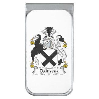 Escudo de la familia de Baldwin Clip Para Billetes Plateado