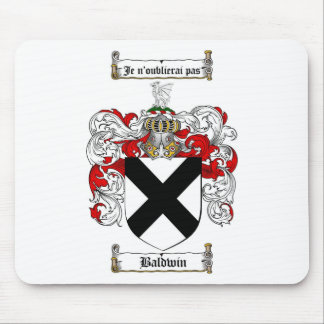 ESCUDO DE LA FAMILIA DE BALDWIN - ESCUDO DE ARMAS ALFOMBRILLAS DE RATONES